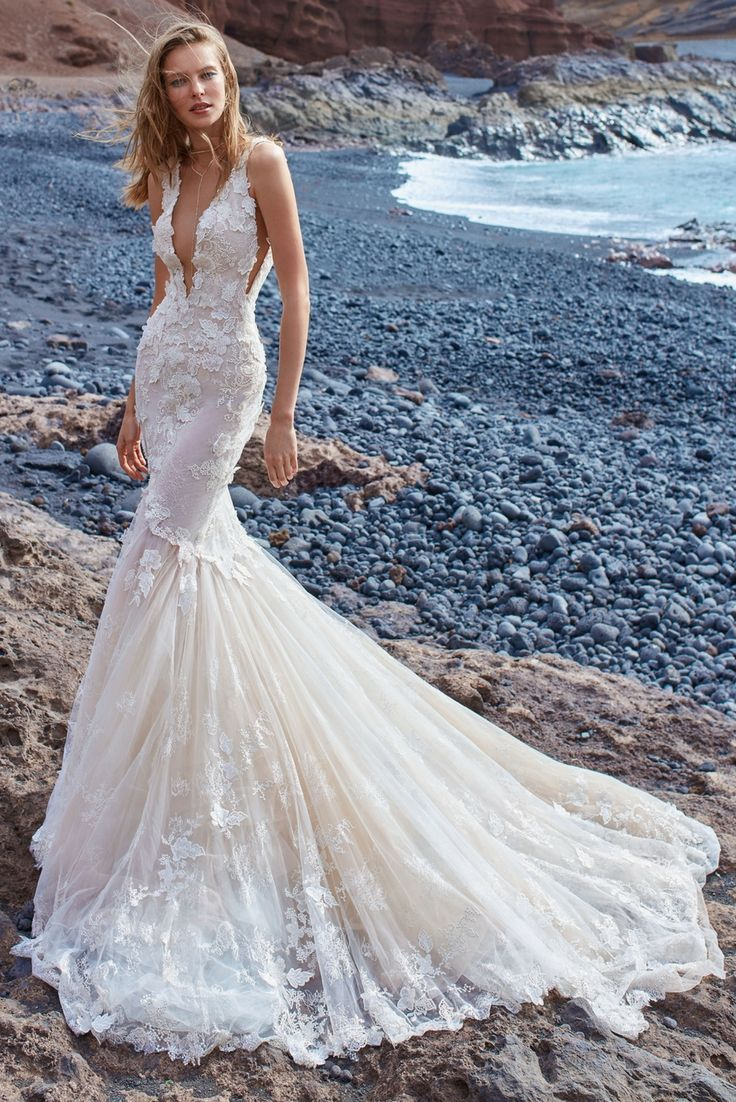 GALA-1001 | Lace mermaid dresses, Lace mermaid and Color themes