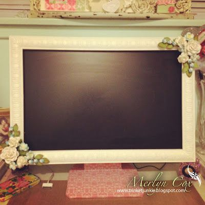 shabby chic computer monitor frame party gifts pinterest