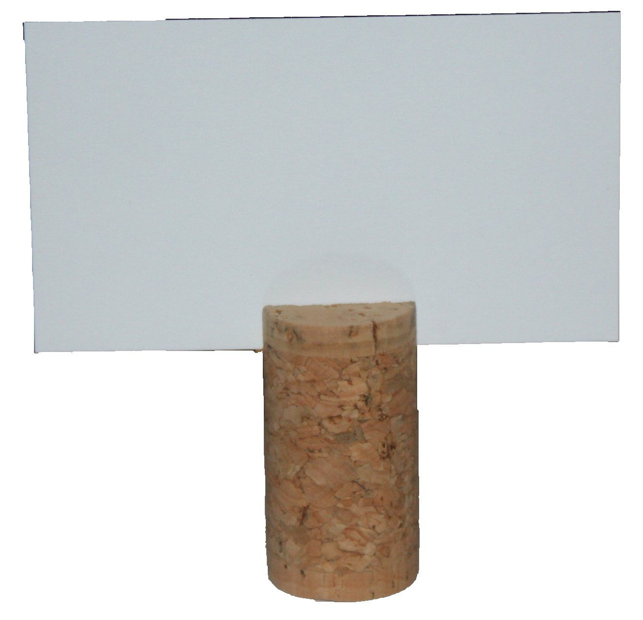 Real Cork Card Holders, Set of 25, Includes Cards, Blank Top Slit