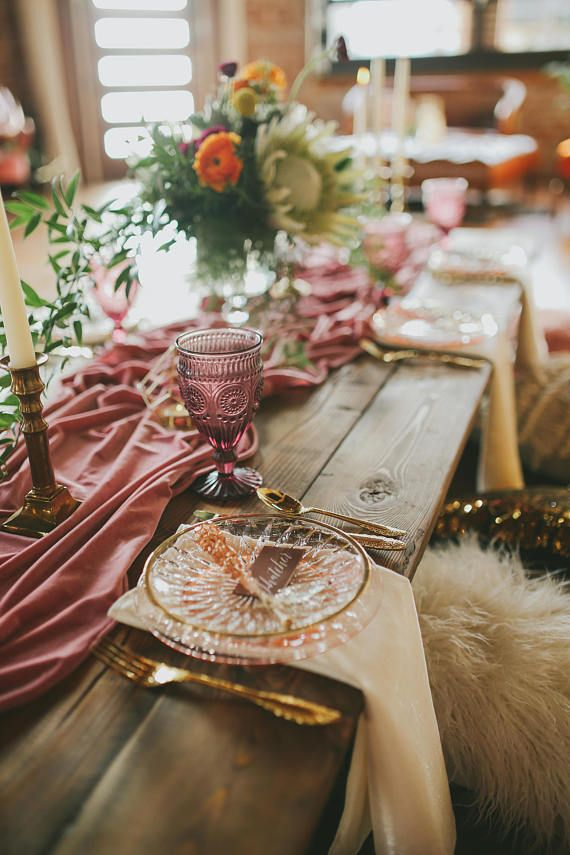 Velvet Tablecloth Velvet Table Runner Velvet Runner Wedding