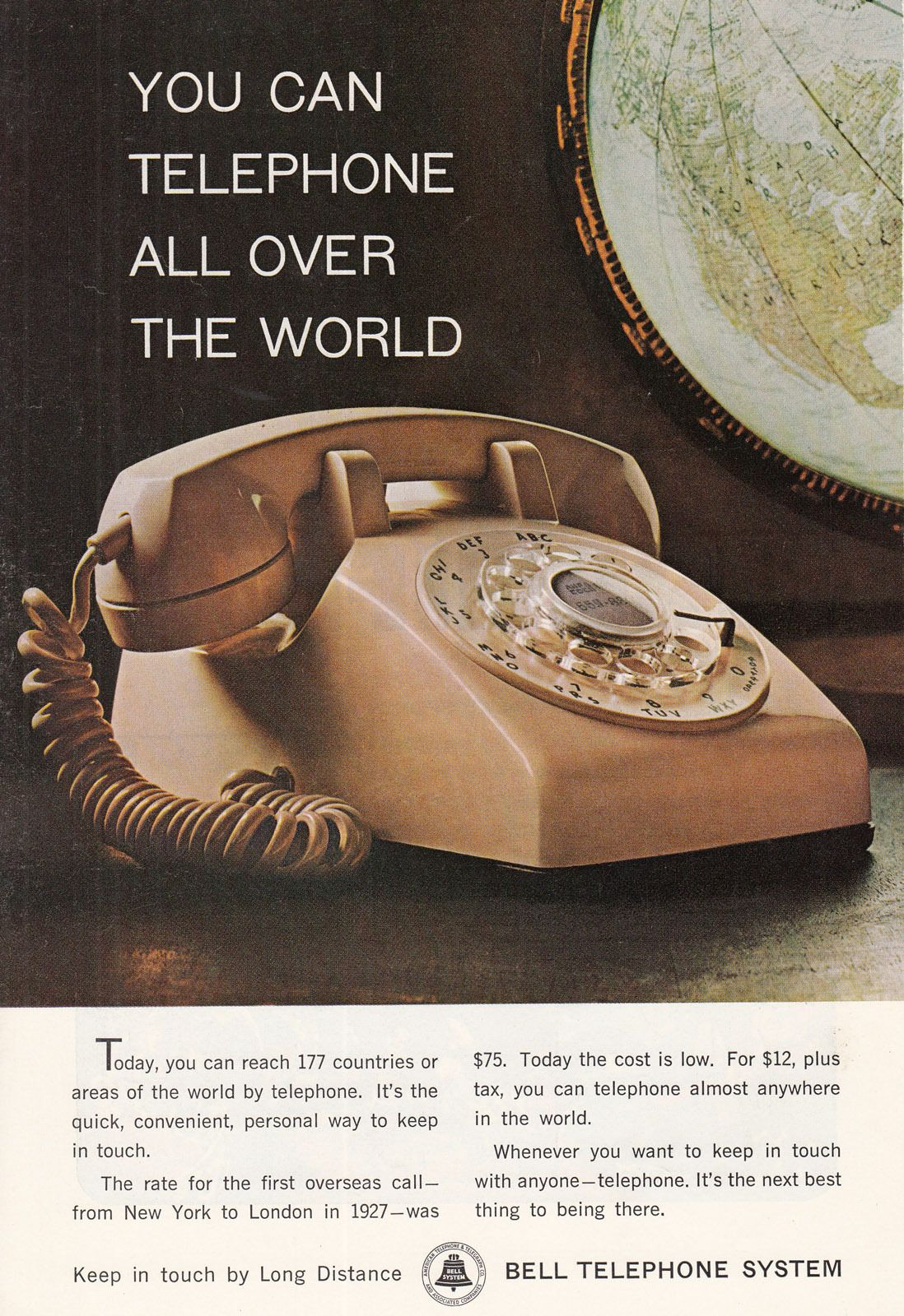 While the touch tone phone service was introduced in the 1960s - the