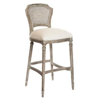 Camilla French Country Washed Taupe Linen Barstools Set Of 2 French Country Bar Stools Contemporary Bar Stools Bar Stools