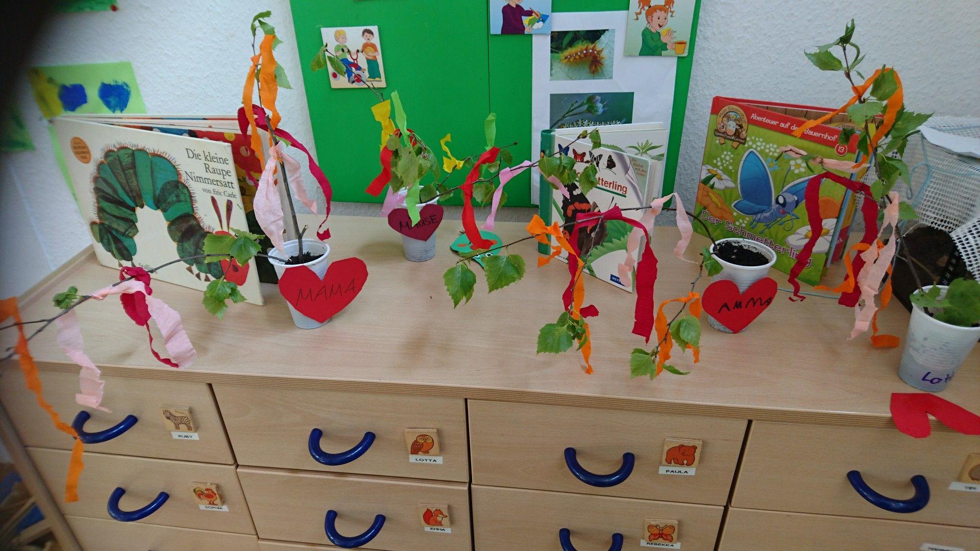Maibaum mit Kindergarten Kindern gestaltet!!