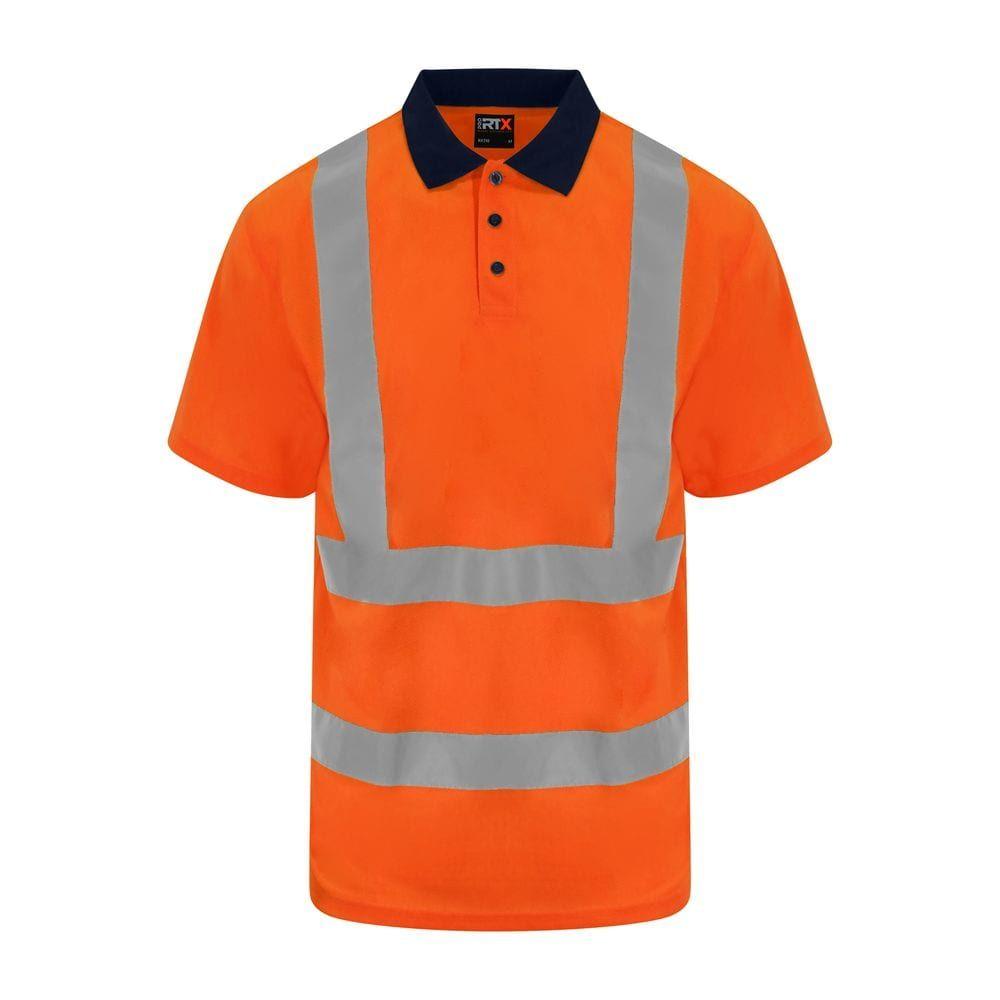 Polo haute visibilité Hv Orange / Navy – PRO RTX RX710 – Taille: L   – Products
