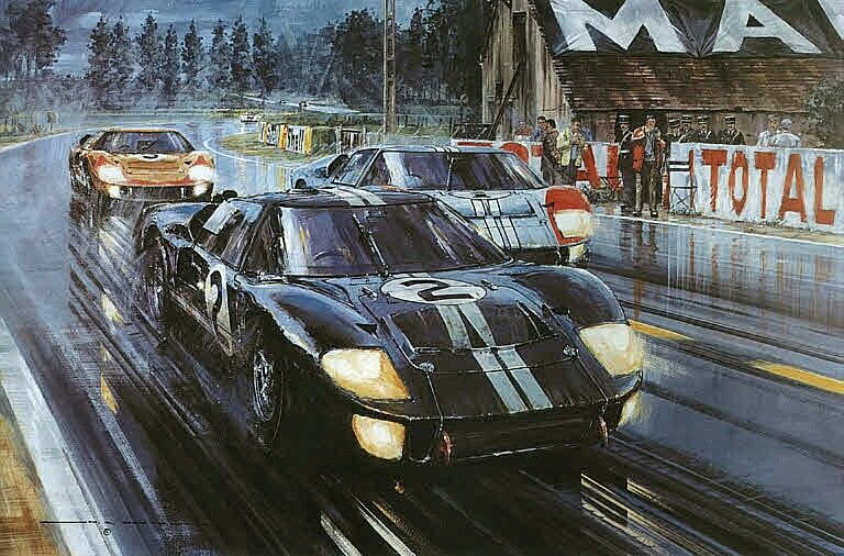 Three Ford Gt40 S Cruised To Victory In Formation At The 1966