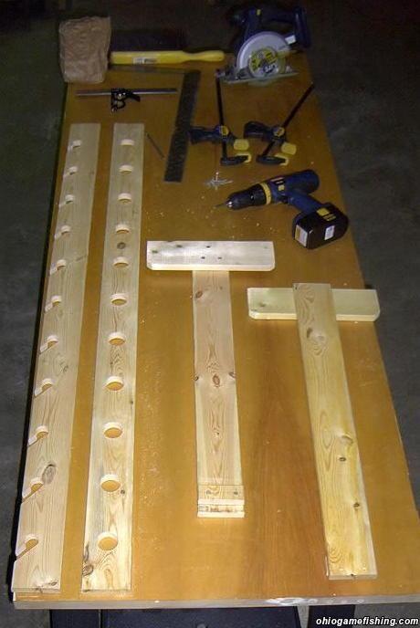 Diy Fishing Pole Storage Home Made Rod Rack Pqic Fishing Pole Storage Pinterest