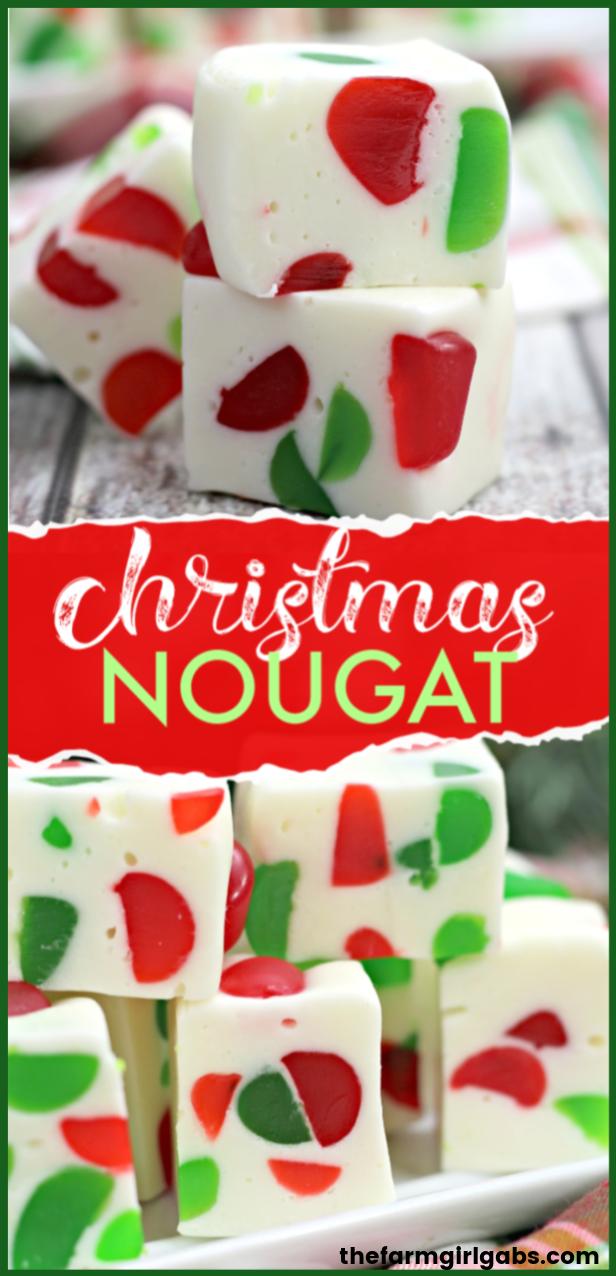 Christmas Gumdrop Nougat - The Farm Girl Gabs