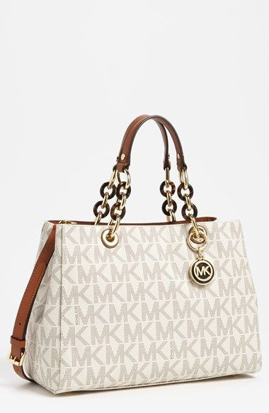 a6034531ca04 Free shipping and returns on MICHAEL Michael Kors  Cynthia - Medium  Satchel  at Nordstrom.com. Subtle logo print styles a structured leather tote  furnished ...