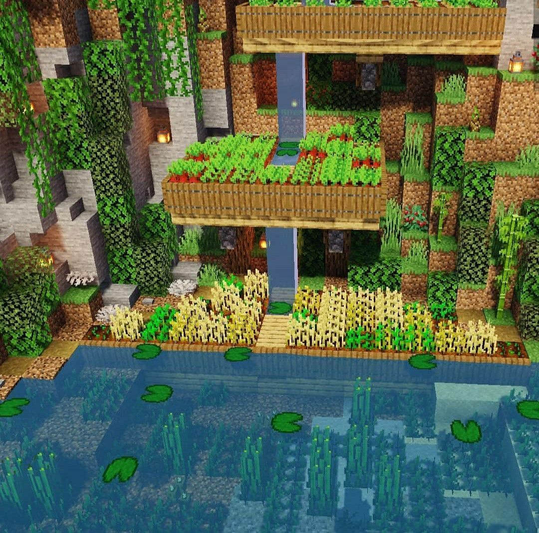 Farm  Design  Minecraft  Minecraft