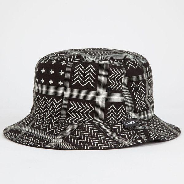 a2a993e8 LRG Bandana Mens Reversible Bucket Hat ($20) ❤ liked on Polyvore featuring  men's fashion