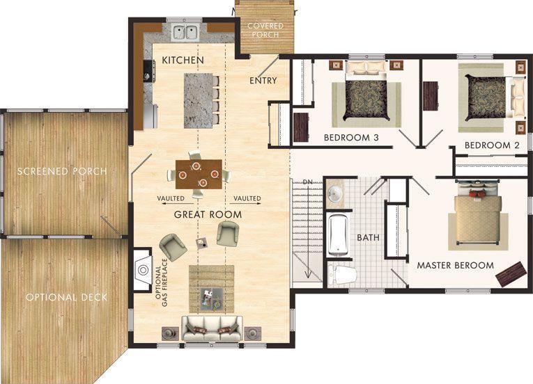 Planos de casa de campo de 120 m2 con 3 dormitorios proyectos que intentar pinterest 50th - Precio proyecto casa 120 m2 ...