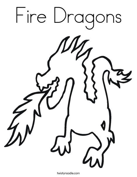 fire dragons coloring page twisty noodle school room theme