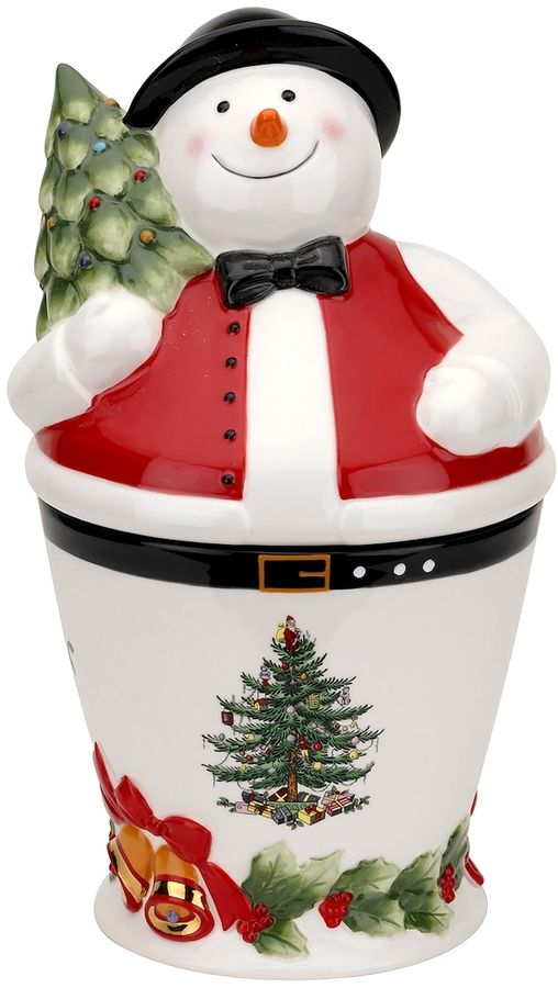 Spode Christmas Tree Mr Snowman Cookie Jar Products Pinterest