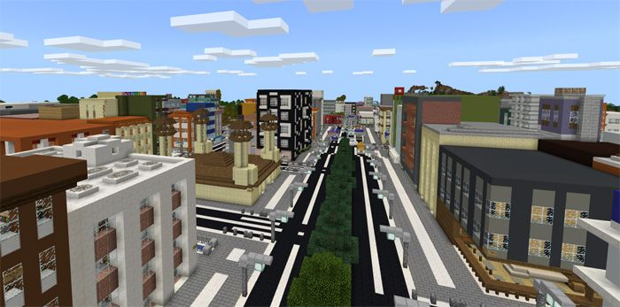Footscray City Creation Map For Minecraft Pe 1 2 0 7 Mcpe Box Minecraft City Minecraft Pe Map Minecraft