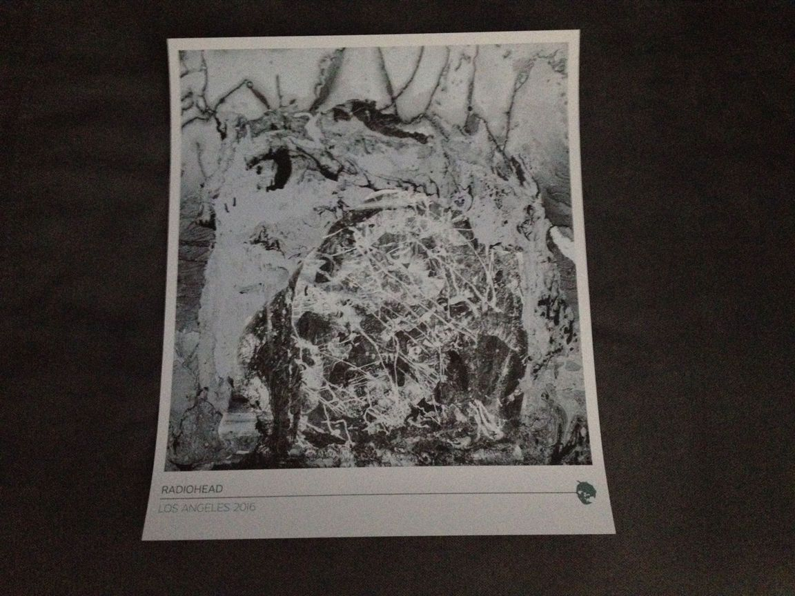 Radiohead  Los Angeles Show Poster Shrine Auditorium Stanley - Los angeles poster black and white