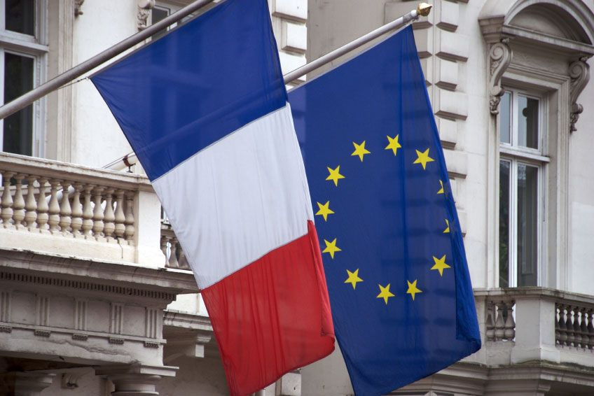 French And Eu Flags See More At Www Flagmakers Co Uk Flag Eu Flag National Flag