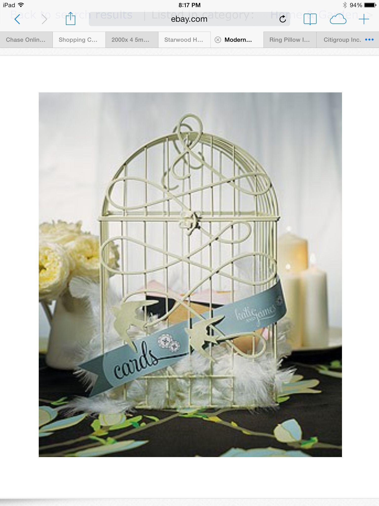 Bird cage card holder
