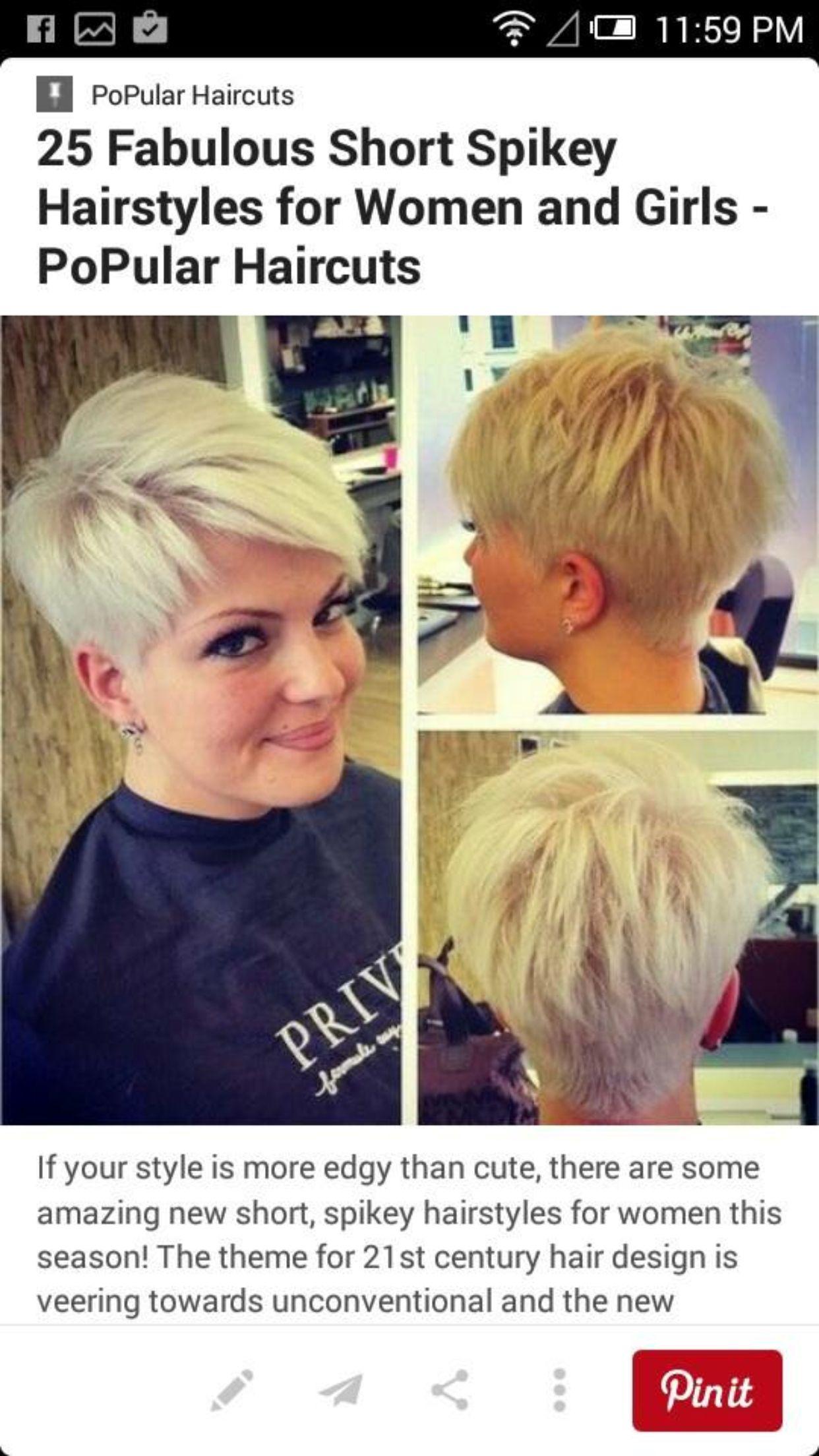 Pin by Cheryl Butcher on Short hair styles Pinterest Short hair