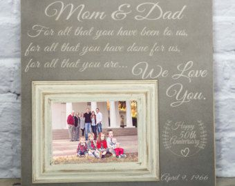 Parents Anniversary Gift 50th Anniversary Gifts by thesugaredplums ...
