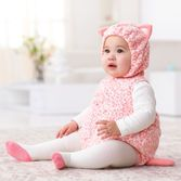 Dress up baby's first Halloween in a fleece bubble cat costume with matching long-sleeve tee. Complete the look with ballet tights. <br>