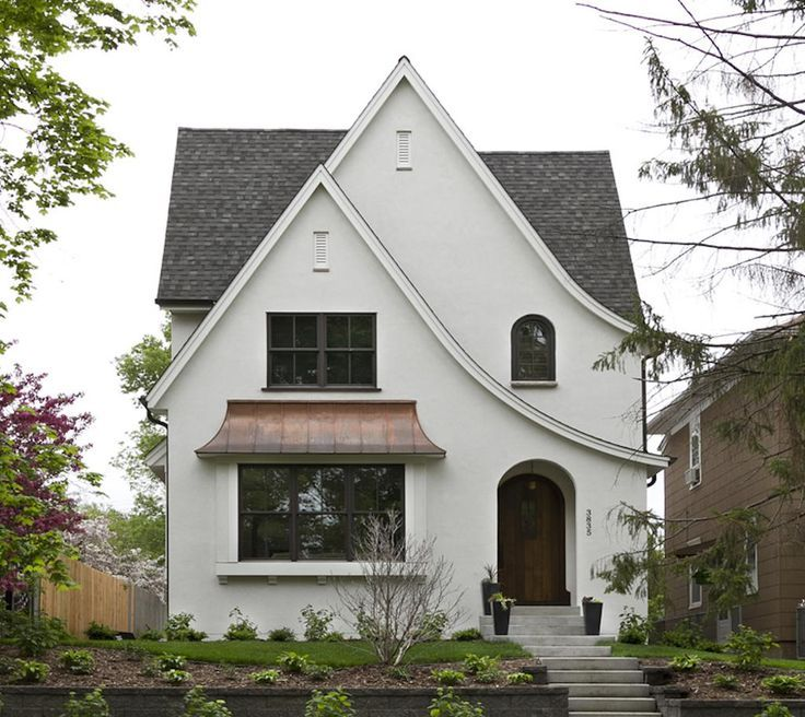 Minneapolis modern tudor custom home photos w b for Modern tudor house