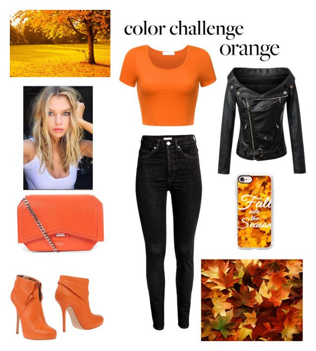 """""""Orange!:)"""" by rayangel ❤ liked on Polyvore featuring Blumarine, Chicnova Fashion, Givenchy, Casetify, orangeandblack and colorchallenge"""