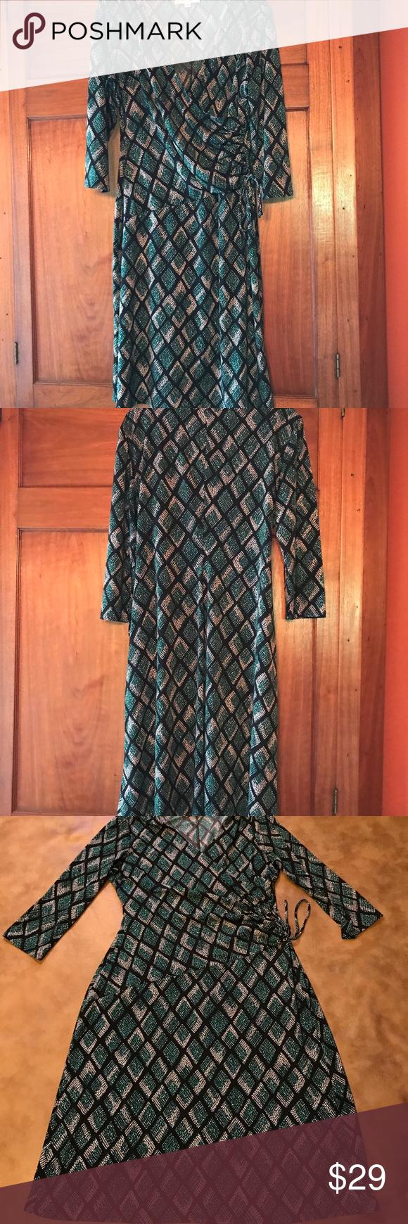Kasper knit mock wrap dress reptile print wrap dresses diamond