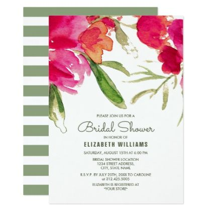 #invitations #wedding #bridalshower - #Romantic Floral Design Bridal Shower Invitations