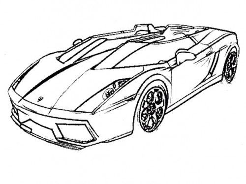 racing car lamborghini coloring page