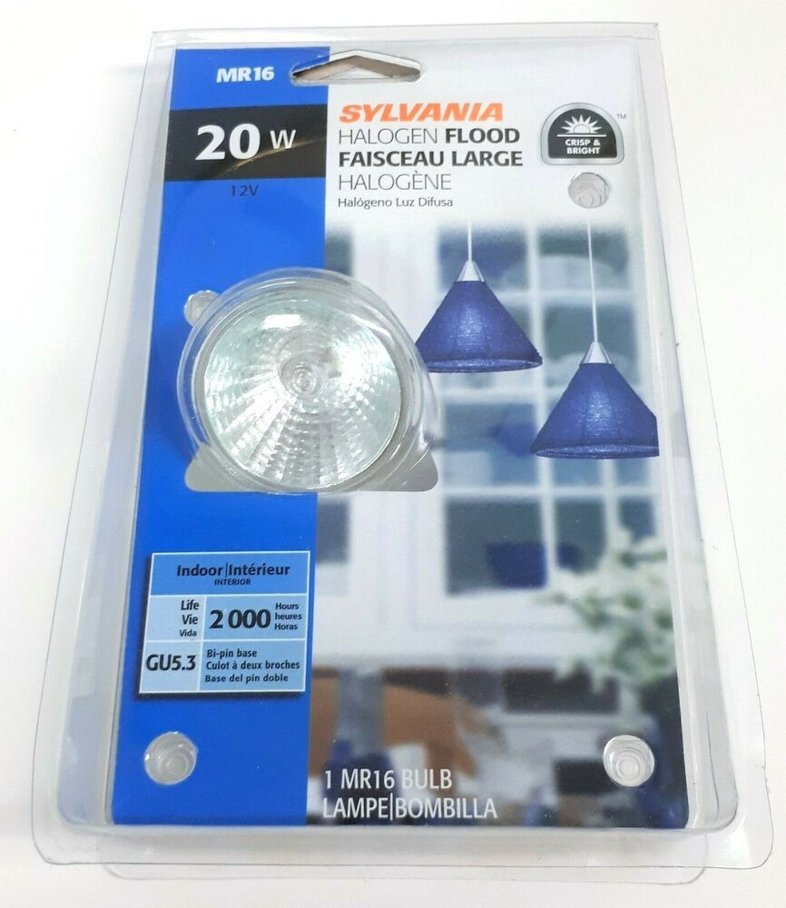 Sylvania 20w 12v Halogen Indoor Flood Lamp Gu5 3 Bi Pin Base 2000 Hours Mr16 Sylvania Bulb Flood Lights Sylvania