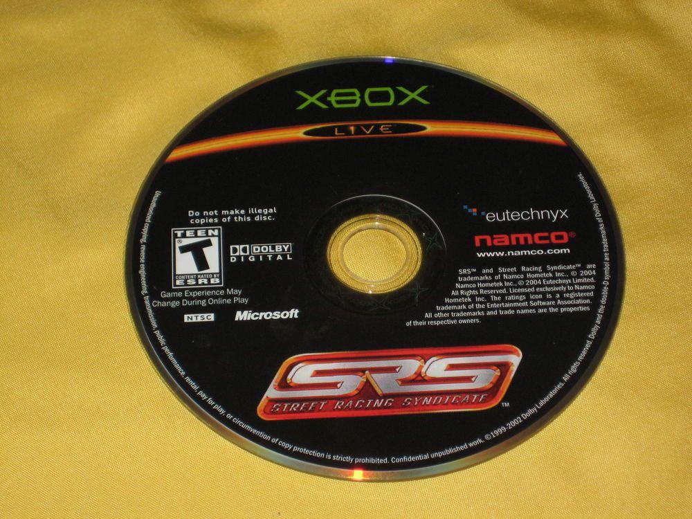 SRS: Street Racing Syndicate - Original Xbox video game DISC