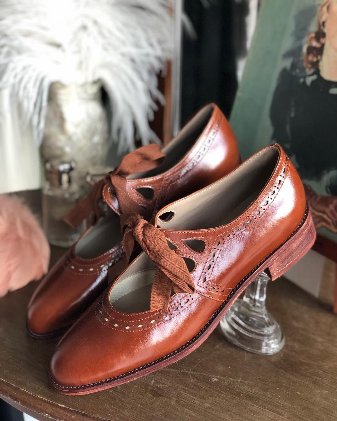 Memery Vintage Shoes On Instagram So Happy To Tell That These Cognac Brown 30s Memery Shoes Are Back En Stock In All Size Vintage Shoes Shoe Wishlist Shoes