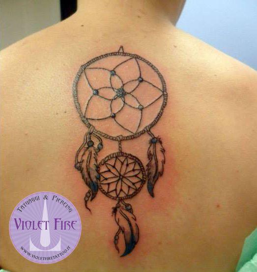 Tatuaggio religioso etnico tatuaggio grande tatuaggio for Acchiappasogni disegno