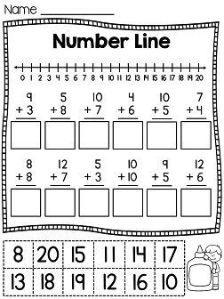 First Grade Math Unit 4 Addition to 20 | Worksheets