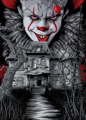 IT Movies Poster Print metal posters Películas de