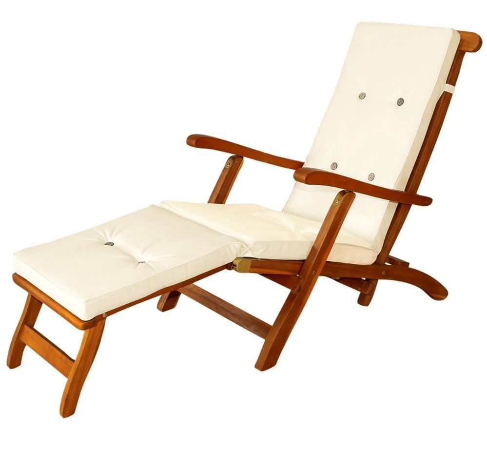 Sun Lounger Cream Cushion Pads Waterproof Steamer Relaxer