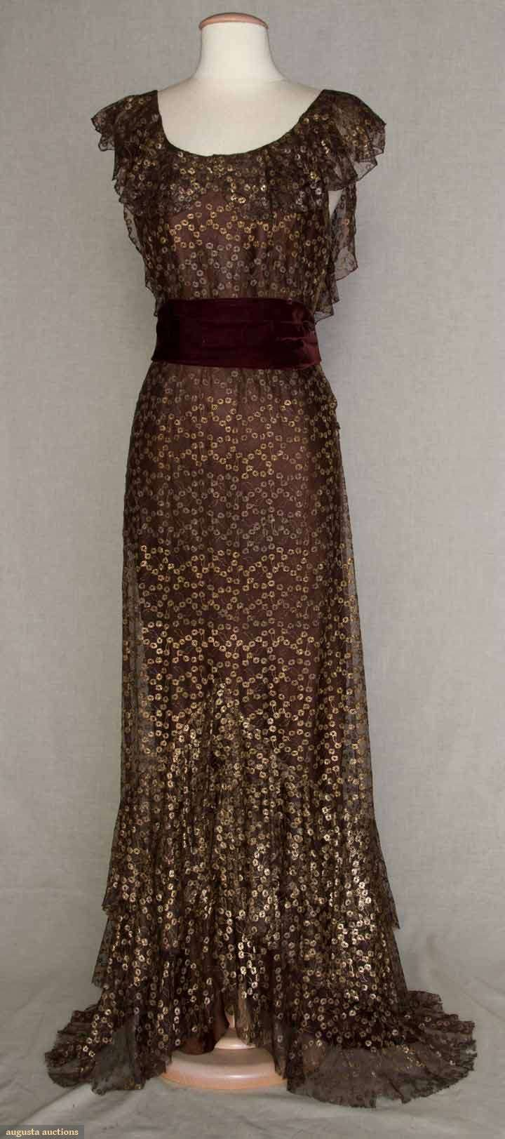 Evening Gown 1934 American Made Of Satin And Velvet Why