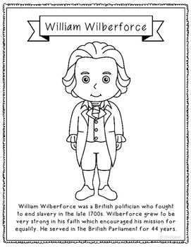 William Wilberforce Biography Coloring Page Or Poster Civil Rights England William Wilberforce History Interactive Notebook Reading Tree