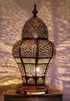 Lighting Touch Moroccan Brass Table Light Lamp Decorations Ethnic Lamps Uk 800x880