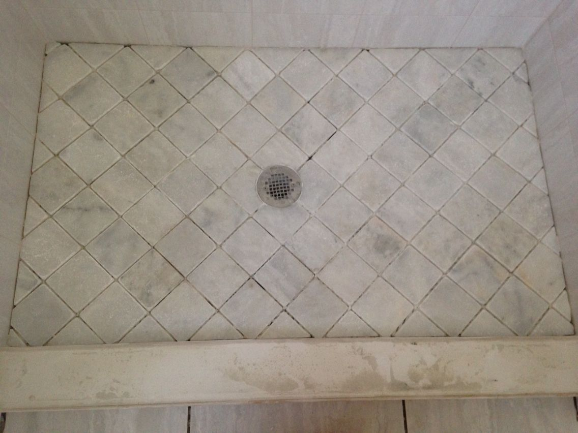 marble showers shower floor tile projects