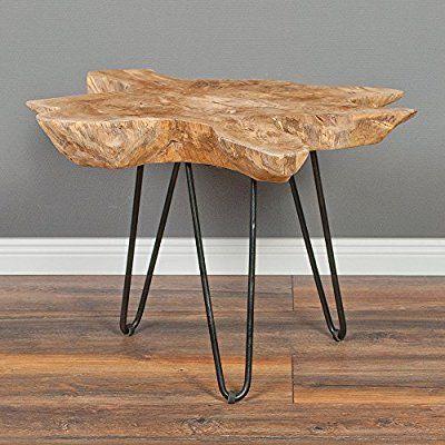 Teakholz Couchtisch \/ Beistelltisch CAVE ca 70cm Massivholz - beistelltisch für küche