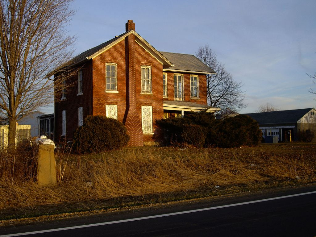 21 Litchfield Brick Farmhouse (sunset) in 2020