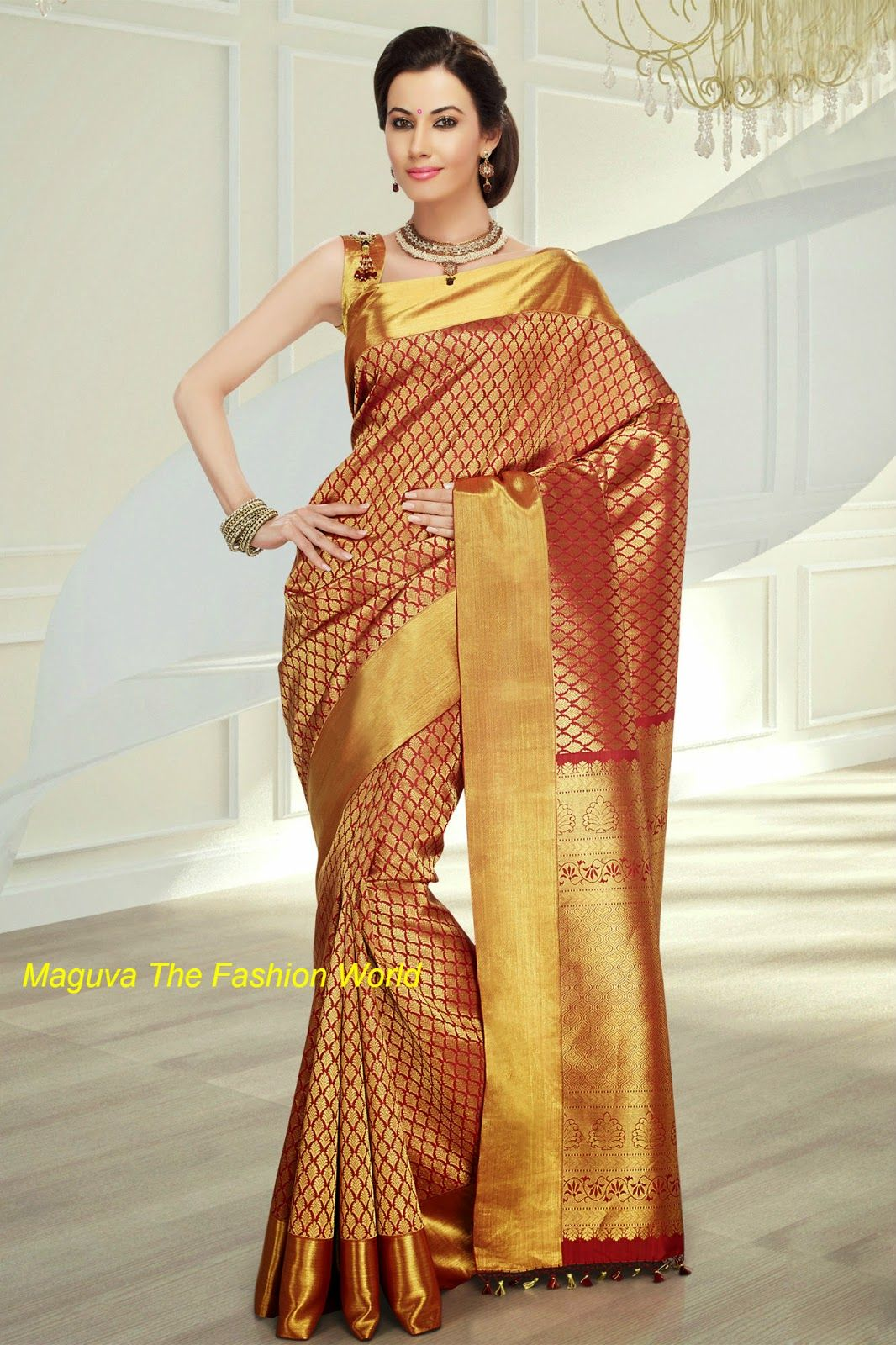 15 Traditional Wedding silk sarees from RMKV WEDDING SILKS - Maguva The Fashion World