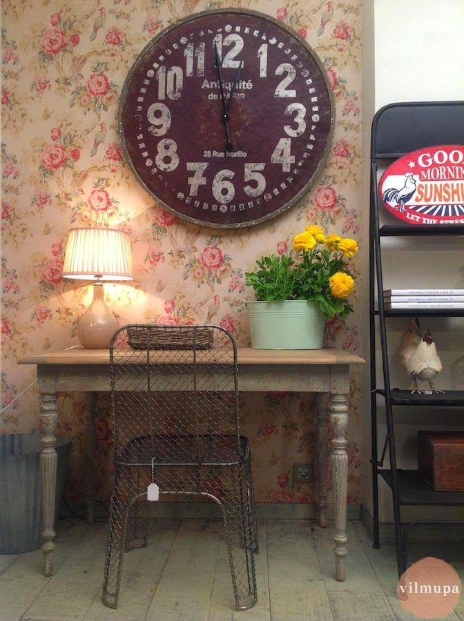 657de4996b0f UN TOQUE VINTAGE  Decorar con relojes de estilo vintage