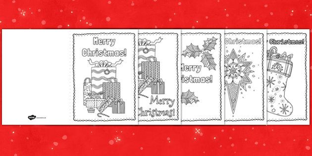 mindfulness colouring christmas cards - Coloring Christmas Cards 2