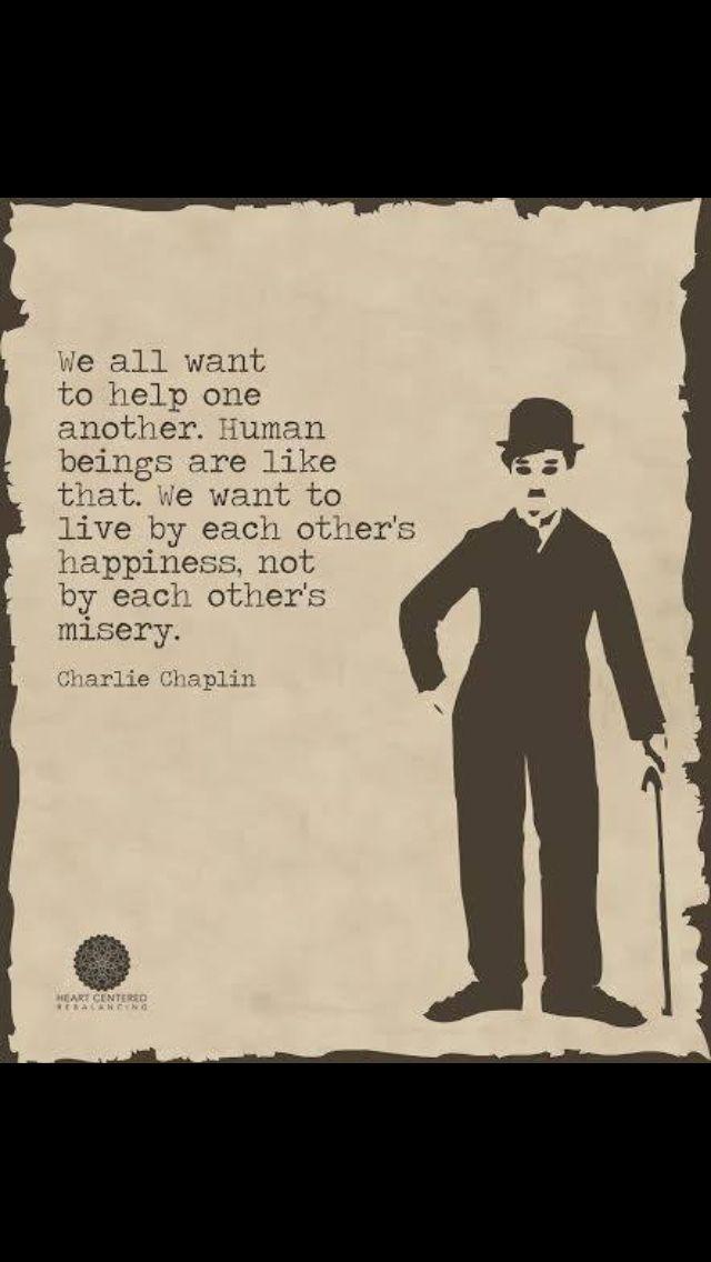 Yes! You said it Chaplin! ❤️