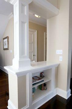 Interior Columns With Shelving. Diy ...
