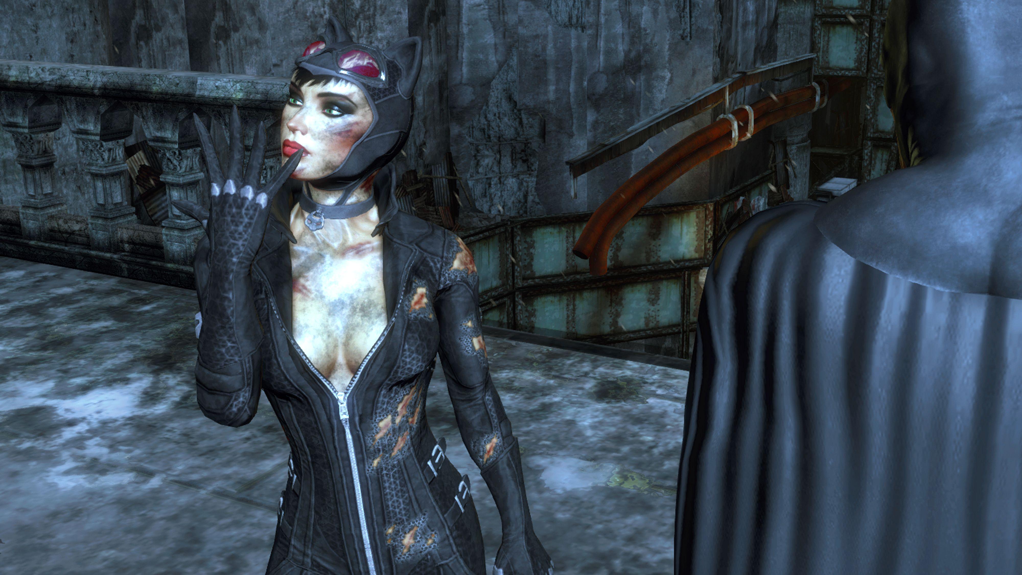 Batman Arkham City, the Catwoman epilogue, off to