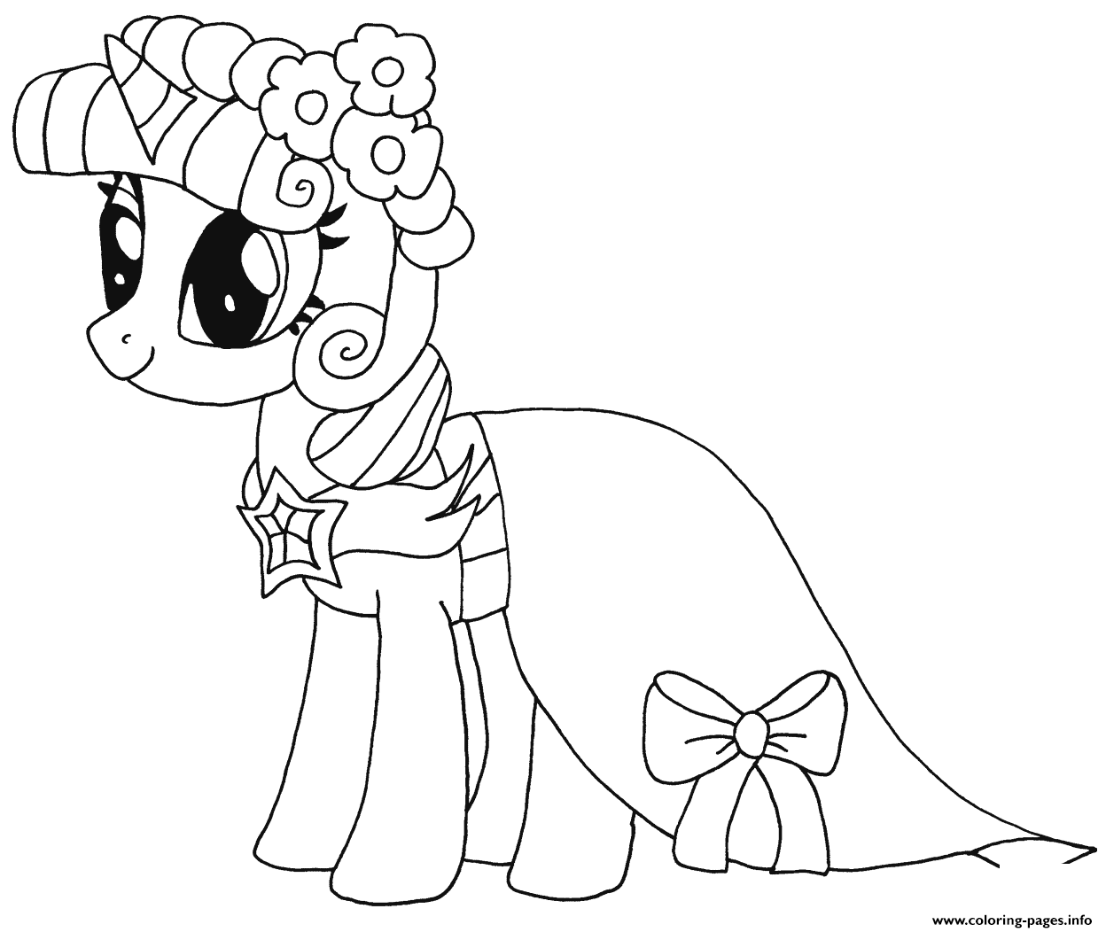 print princess twilight sparkle my little pony coloring