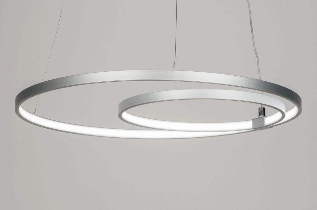 Hanglamp modern design aluminium kunststof rond se hizo